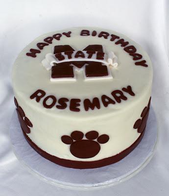 Rose Bakes a Mississippi State University MSU Birthday Cake