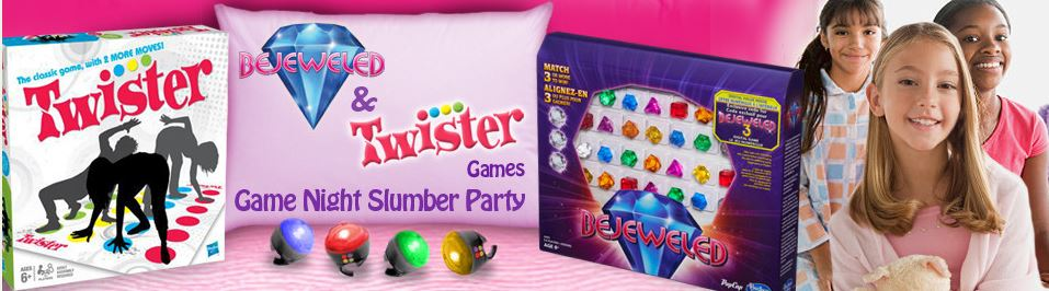 Apply to Host a Free Bejeweled & Twister Game Night Slumber Party