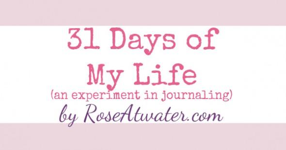 31 Days of My Life Meme