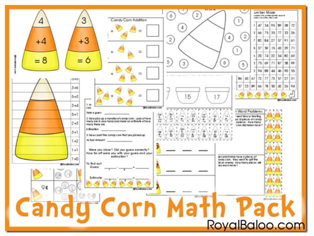 Free Printable Candy Corn Math Pack