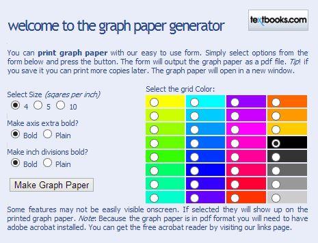Free Custom Printable Graph Paper