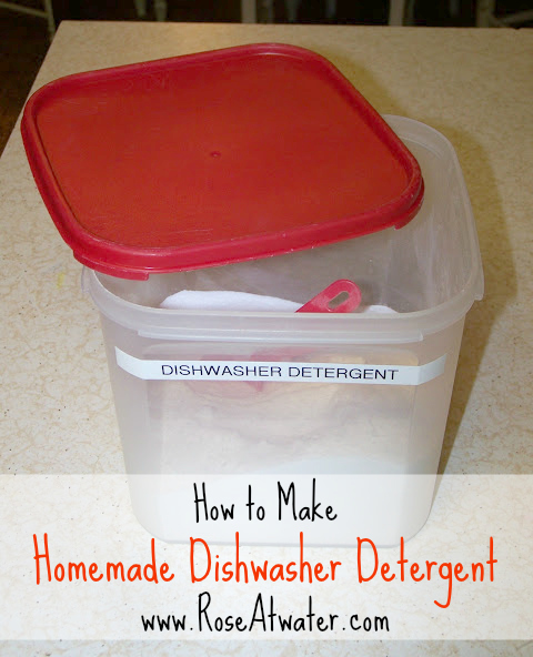 How to Make Homemade Dishwasher Detergent (non-toxic)