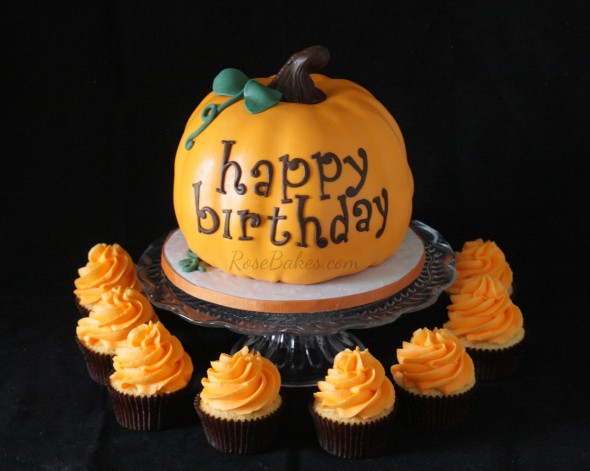 Pumpkin Birthday Cake