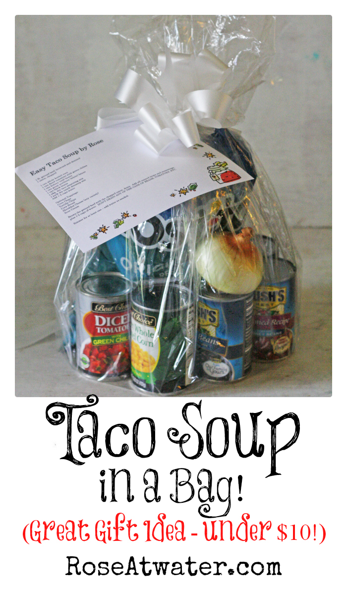 Taco Soup in a Bag (Great Gift Idea under $10!)
