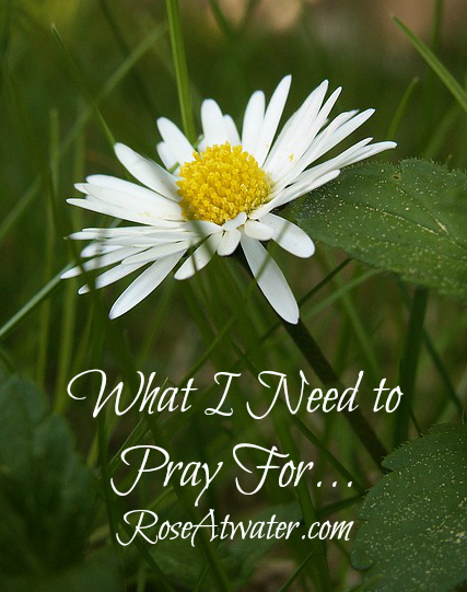 What I Need to Pray For