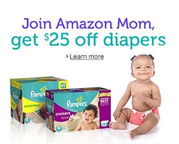 Amazon Mom: $25 Credit Toward Diapers for New Members