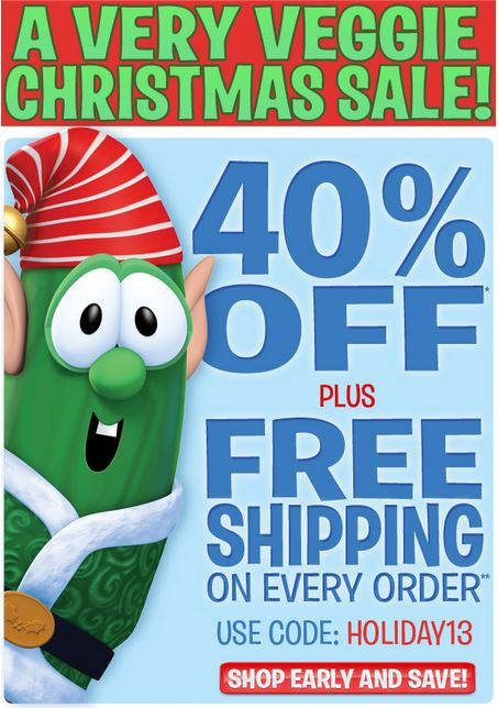 VeggieTales Sale: 40% off everything + Free Shipping