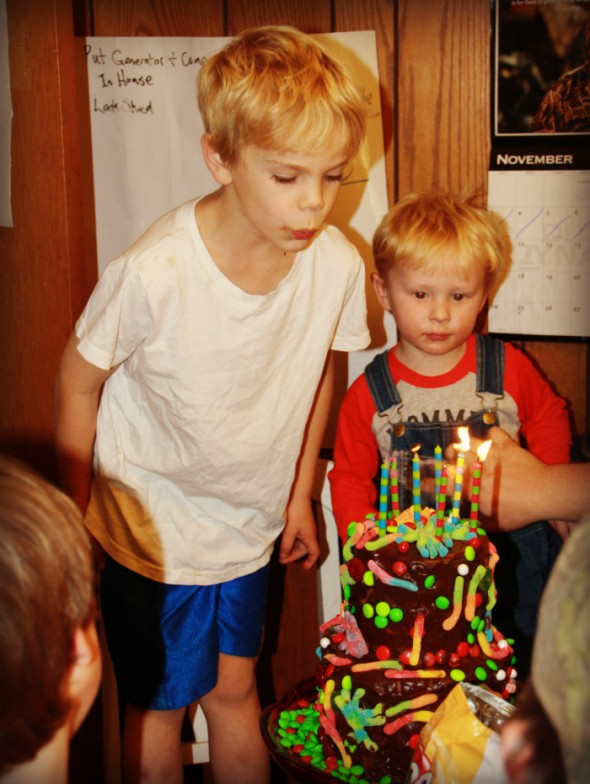 Christian Blowing out Candles
