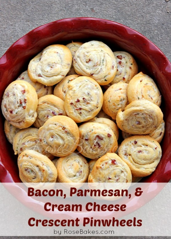 Bacon Parmesan Cream Cheese Crescent Pinwheels
