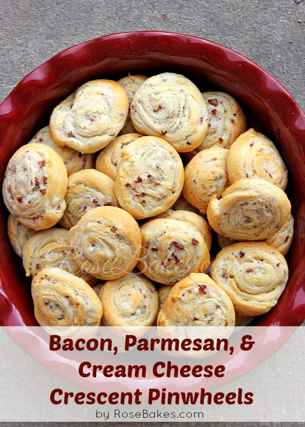 Bacon, Parmesan & Cream Cheese Crescent Pinwheels - Rose Atwater