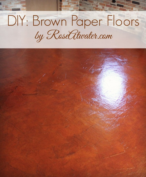 How to Do Brown Paper Floors DIY