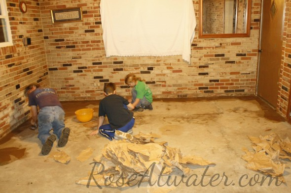 How to do brown paper floors 07