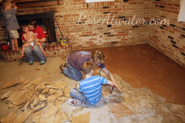 How to do brown paper floors 08