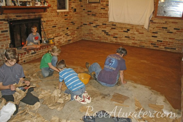 How to do brown paper floors 09