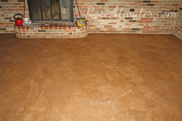 How to do brown paper floors 10