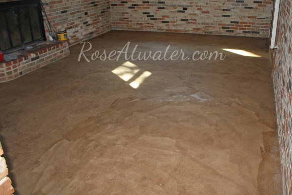 How to do brown paper floors 12