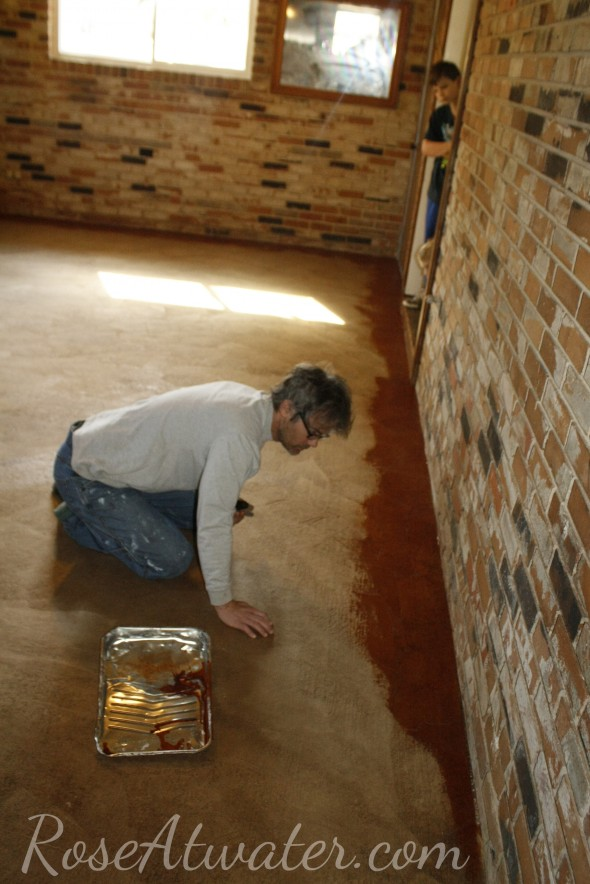 How to do brown paper floors 13