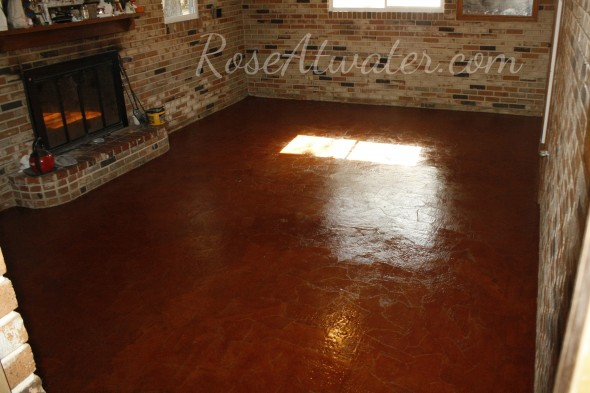 How to do brown paper floors 16