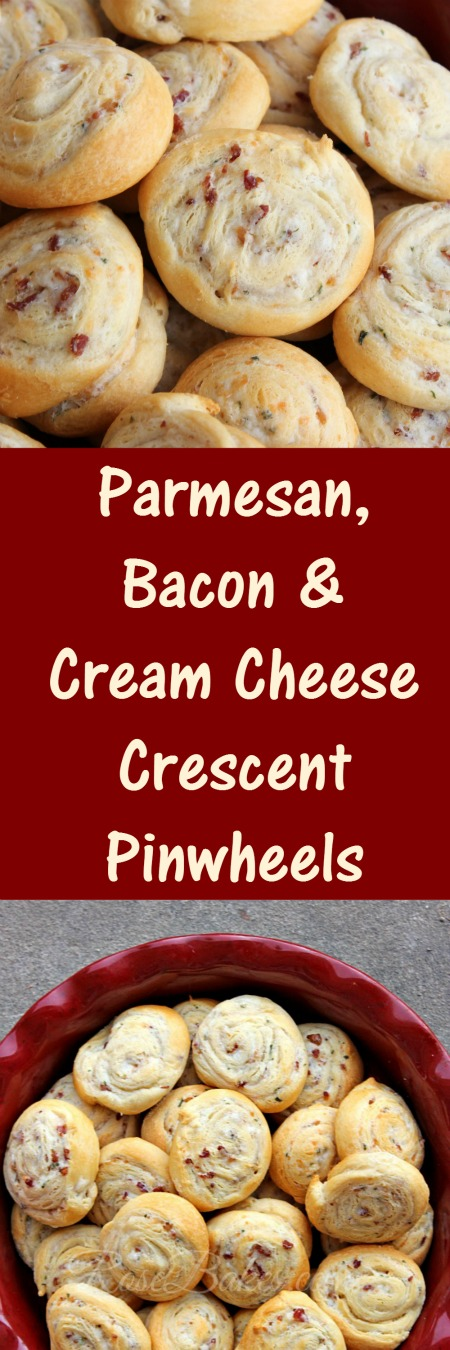 Parmesan, Bacon & Cream Cheese Crescent Pinwheels