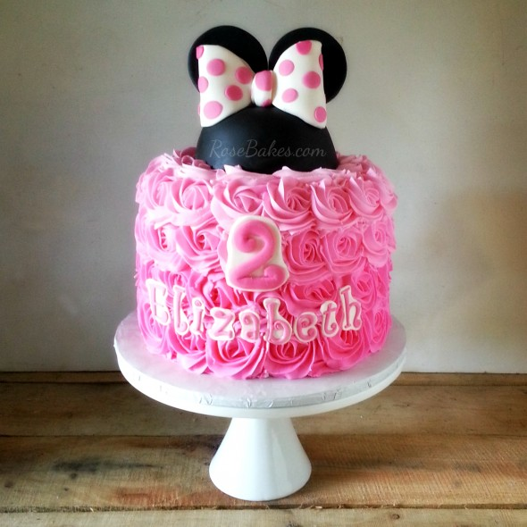 Ombre Minnie Mouse Cake