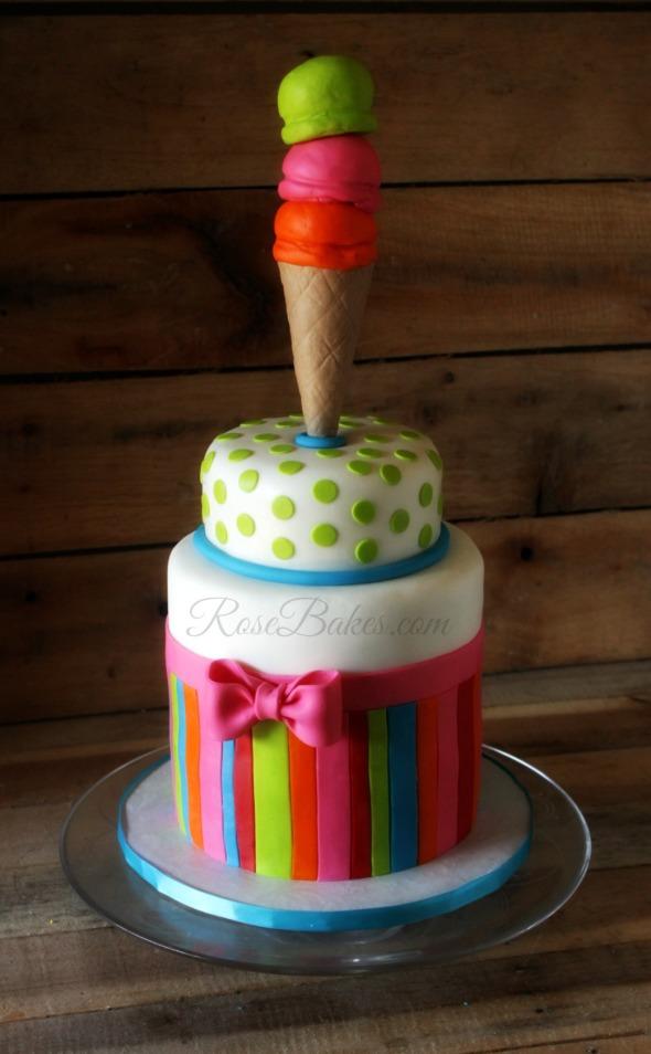 Bright Ice Cream Cake