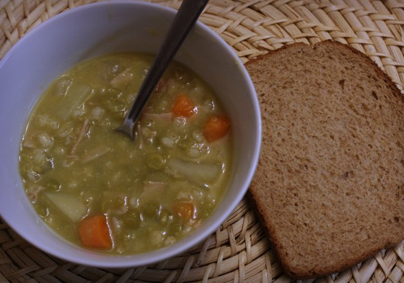 Split Pea Soup and Dark Bread