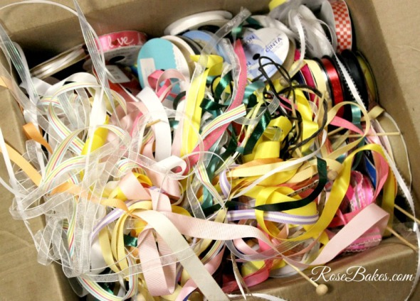Messy Ribbons - How to Organize Ribbons