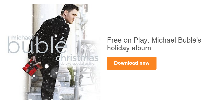 Free Michael Bublé's Christmas Deluxe Special Edition Album