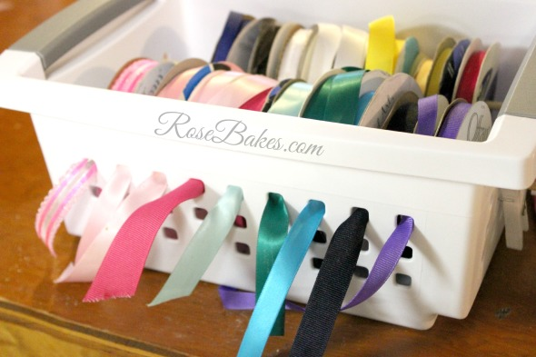 Ribbons in a Basket - How to Organize Ribbons