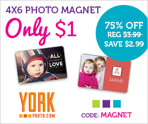 Get a 4″x6″ Photo Magnet for Only $1 (plus $1.99 shipping)