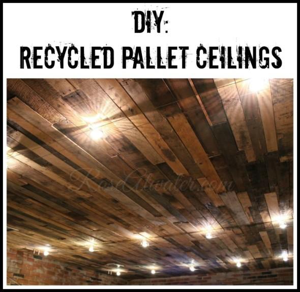 DIY Recycled Pallet Ceilings