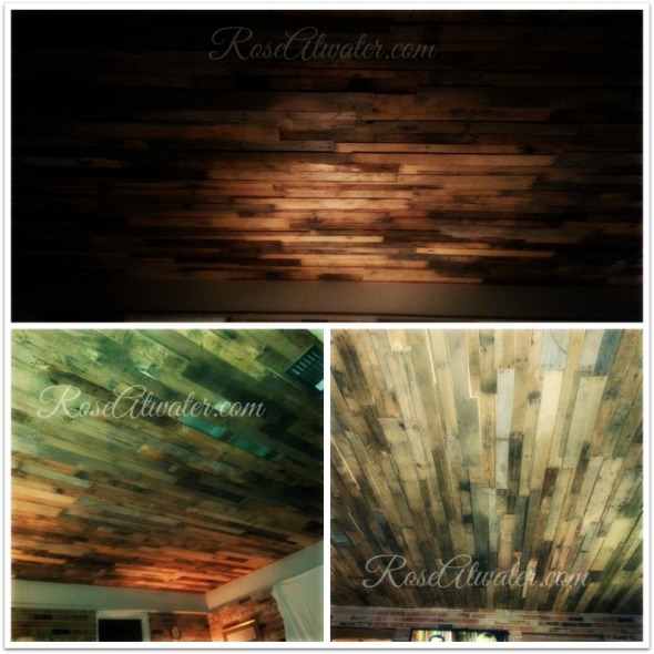 Finished Pallet Ceiling Without Lights