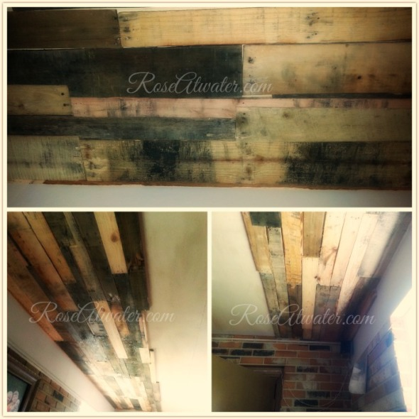 Unfinished Pallet Ceiling