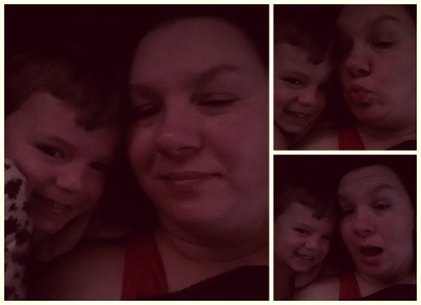 Mommy and Asher in bed