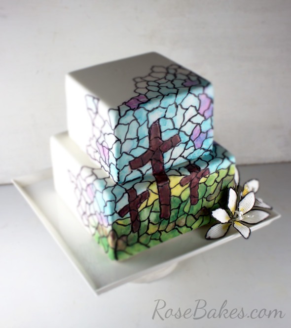 Easter Crosses Stained Glass Cake Easter Collab Large