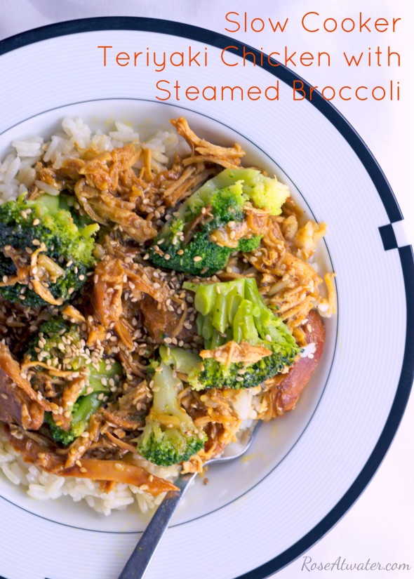 Crock Pot Teriyaki Chicken with Steamed Broccoli Recipe Rose Atwater