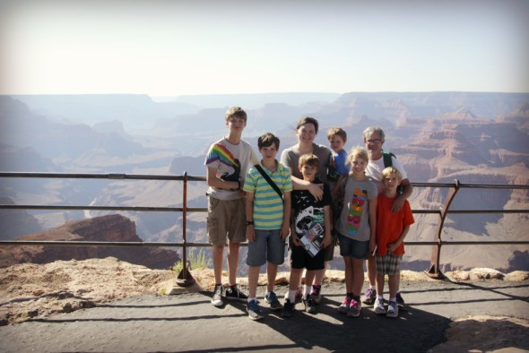 Family Pic at Grand Canyon