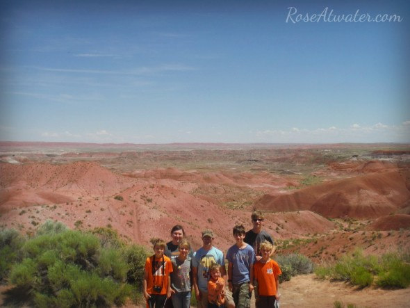 Family Pic at Painted Desert