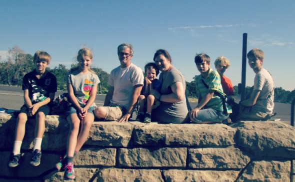 Family Picture at Hermits Rest Grand Canyon