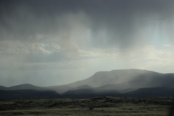 Rain over the mountains