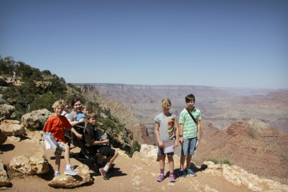 Rose and Kids Grand Canyon