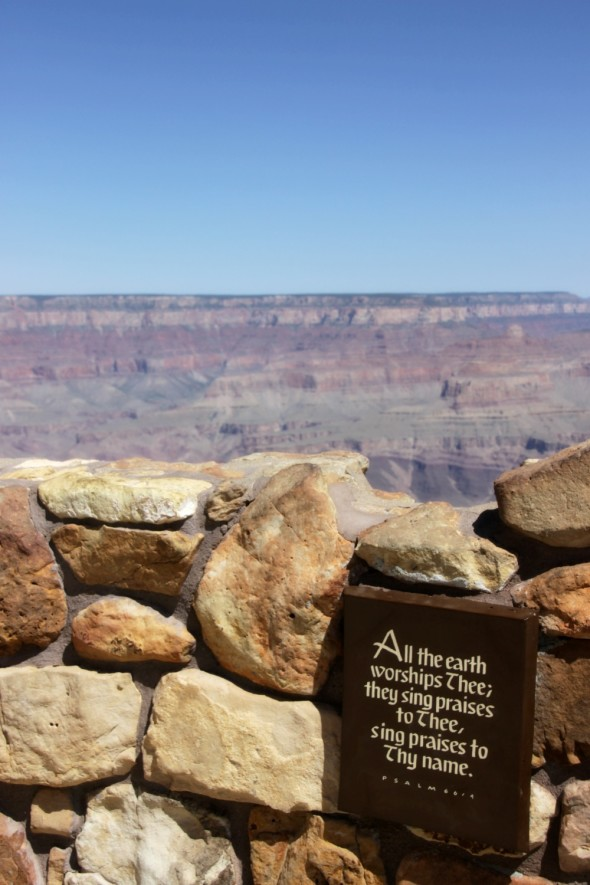 Scripture at Grand Canyon