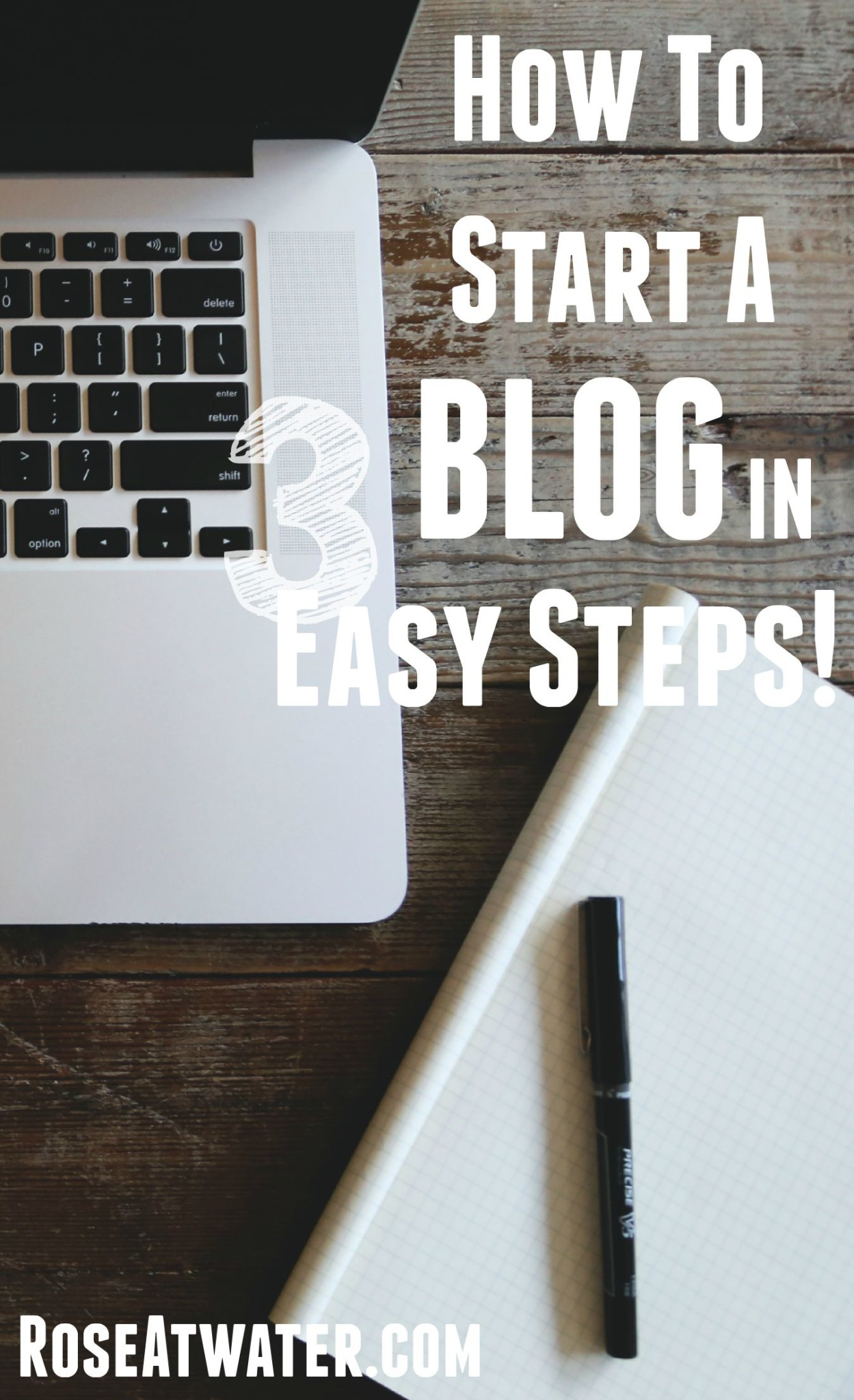 How to Start a Blog in 3 Easy Steps!