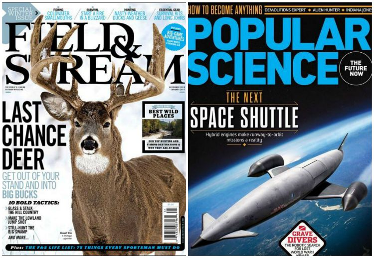 Free Field & Stream and Popular Science Subscriptions