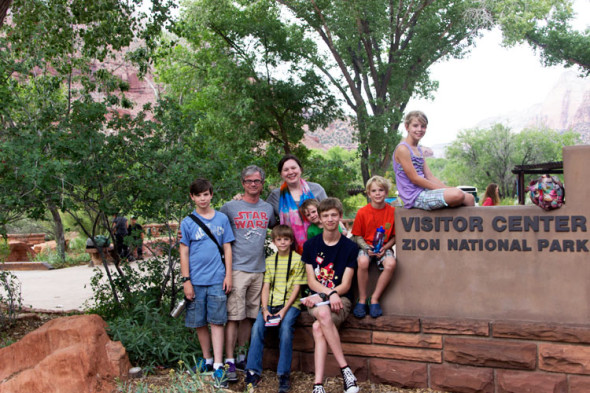 Zion-National-Park-Visitors-Center-Sign