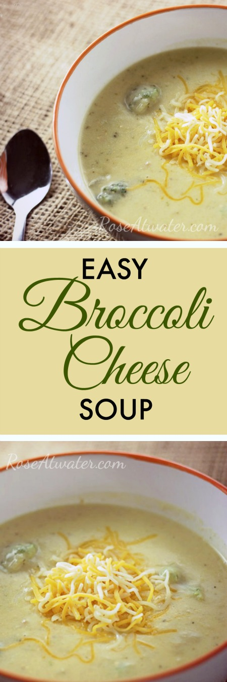 Easy Broccoli Cheese Soup Rose Bakes