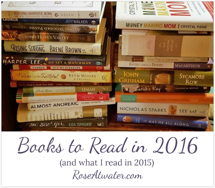 Books to Read in 2016 (and what I read in 2015)