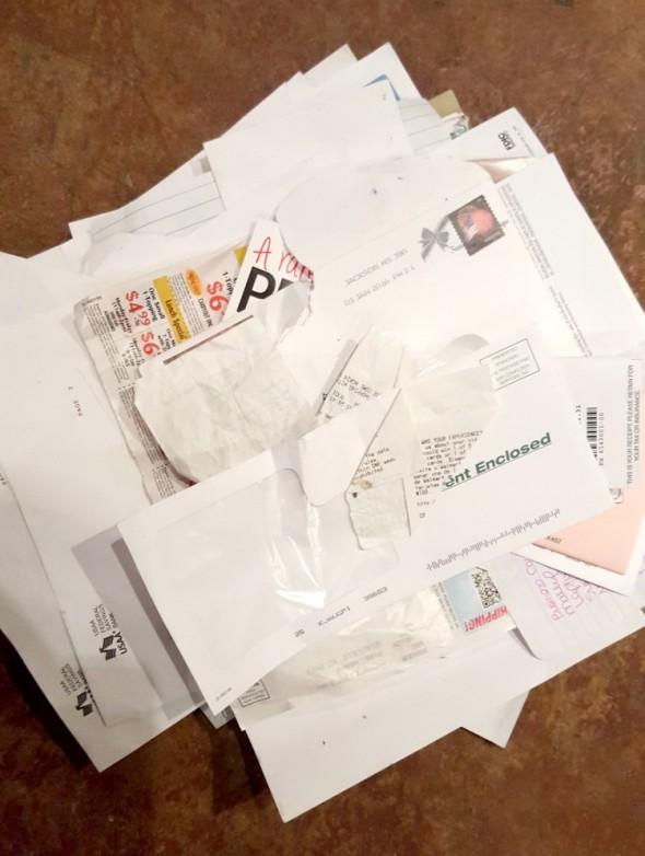 Day 1 Decluttering Challenge Paper