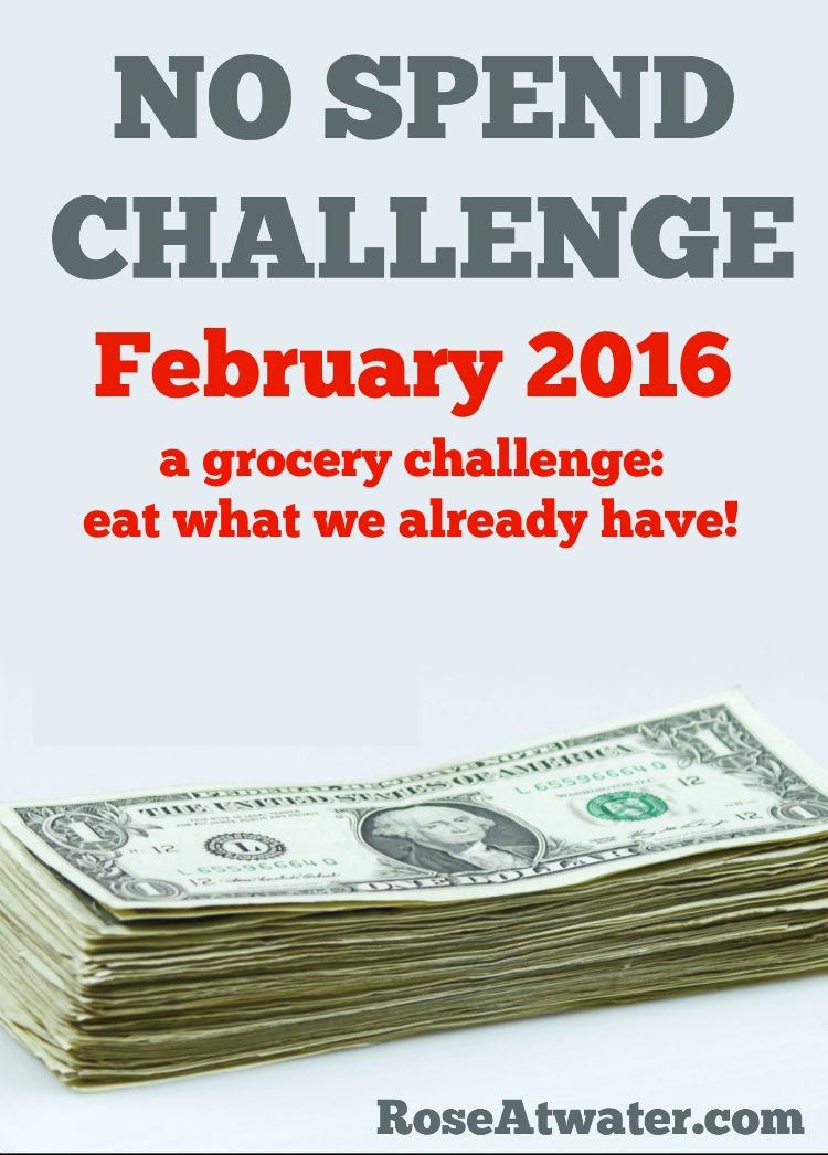 No Spend Challenge Feb