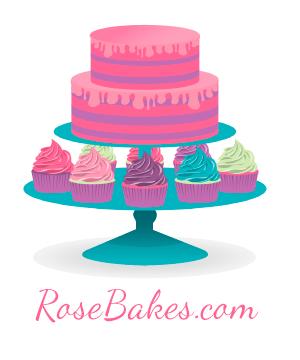 Rose Bakes New Cake Logo with com